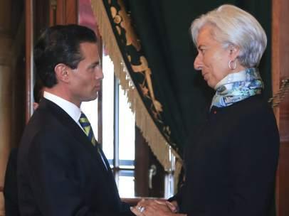 Reunión entre Christine Lagarde y Peña Nieto