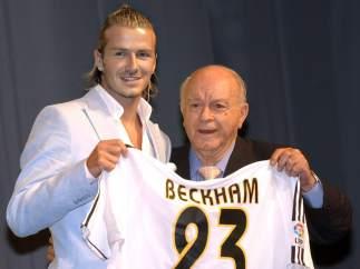 En la presentación de Beckham