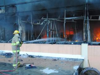 Sofocan un incendio en Chilpancingo