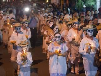 Desfile de ánimas en Merida