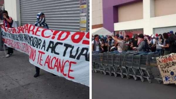 Protestas en un centro comercial