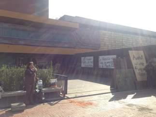 Bloqueo en la Torre de Rectoría de la UNAM