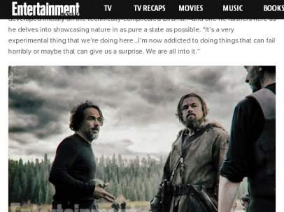 Alejandro González Iñárritu en 'The Revenant'