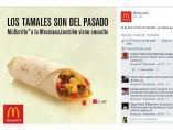 """Publicidad de McDonald's """"Los tamales son del pasado"""""""