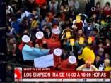 Manifestación por 'Los Simpson' en Bolivia