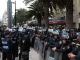 Granaderos en Paseo de la Reforma