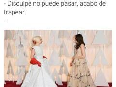 Meme de Lady Gaga en los Premios Oscar