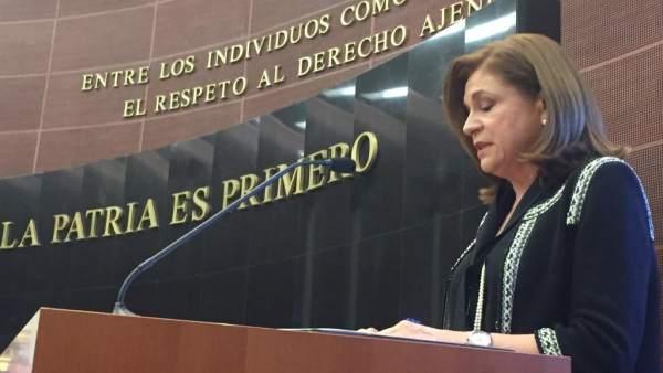 Arely Gómez comparece en el Senado
