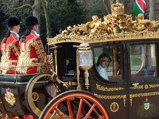 Angélica Rivera en carruaje