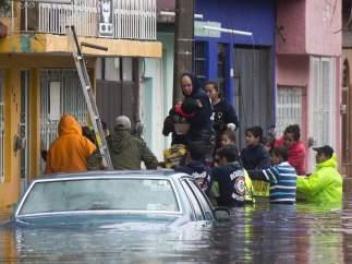 Inundaciones en colonia Carlos Salazar de Morelia, Michoacán