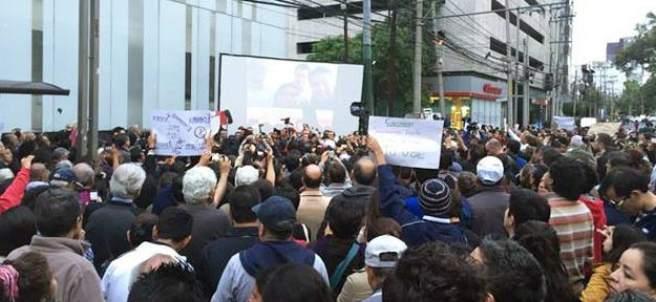 Manifestación en MVS
