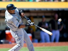 Nelson Cruz de los Marineros de Seattle