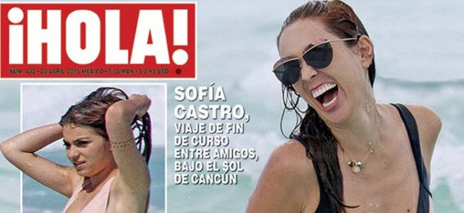 Sofía Castro en la portada de la revista ¡Hola!
