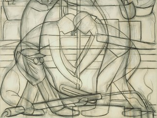 Preparatory Drawing for Commercial Chemical Operations (Detroit Industry south wall), Diego Rivera, 1932