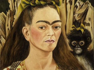 Self Portrait with Monkey, Frida Kahlo, 1945