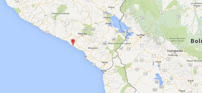 Localidad de Islay en Perú