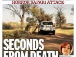 Portada Daily Mirror con la foto del ataque de unos leones a la editora de Juego de Tronos.