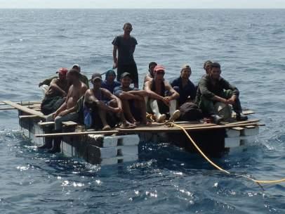 Rescate de balseros cubanos