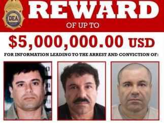 Poster por la recompensa del Chapo