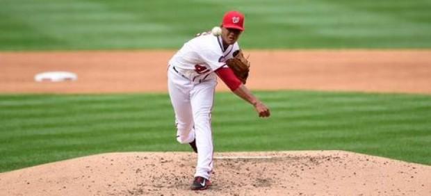 Joe Ross, lanzador de los Nacionales de Washington