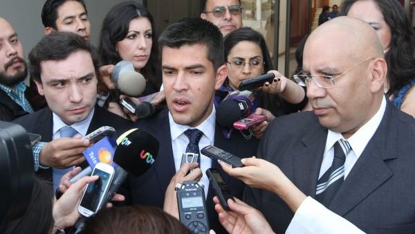 Los panistas Fernando Rodríguez Doval, Juan Pablo Adame y Francisco Garate,