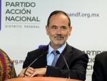 El presidente del PAN, Gustavo Madero Muñoz