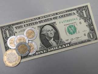 Dólar y pesos