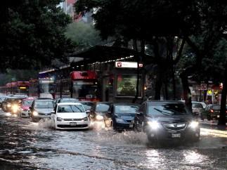 LLuvia en el DF