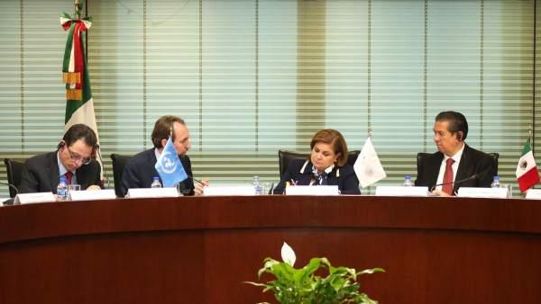 Arely Gómez González y el Alto Comisionado de la ONU para los Derechos Humanos