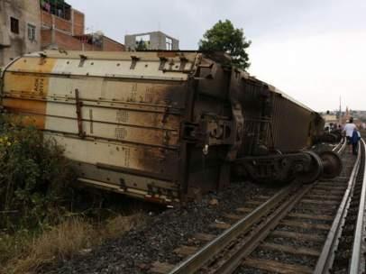Descarrilamiento de un tren