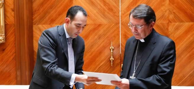 Gil Zuarth y el Nuncio Apostólico en México