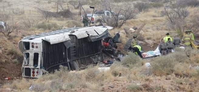 Accidente de autobús que trasladaba reos
